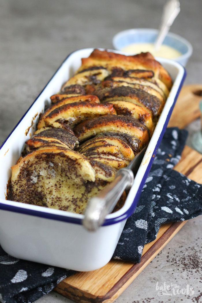 Mohn Pudding Zupfbrot   Bake to the roots