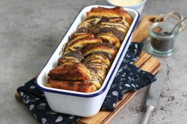 Mohn Pudding Zupfbrot | Bake to the roots