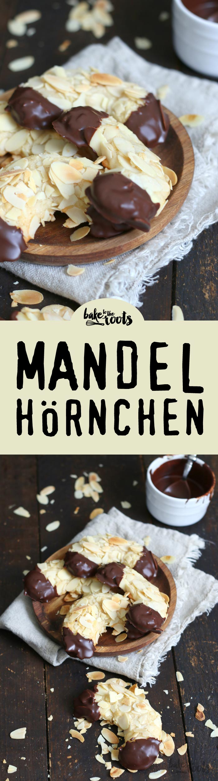 Almond Marzipan Crescents | Bake to the roots
