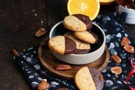 Orange Pecan Chocolate Cookies | Bake to the roots