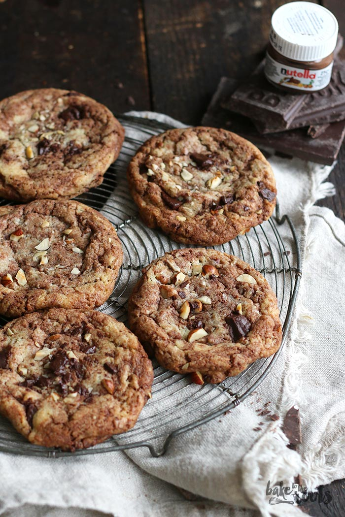 Chocolate Nutella Hazelnut Cookies | Bake to the roots