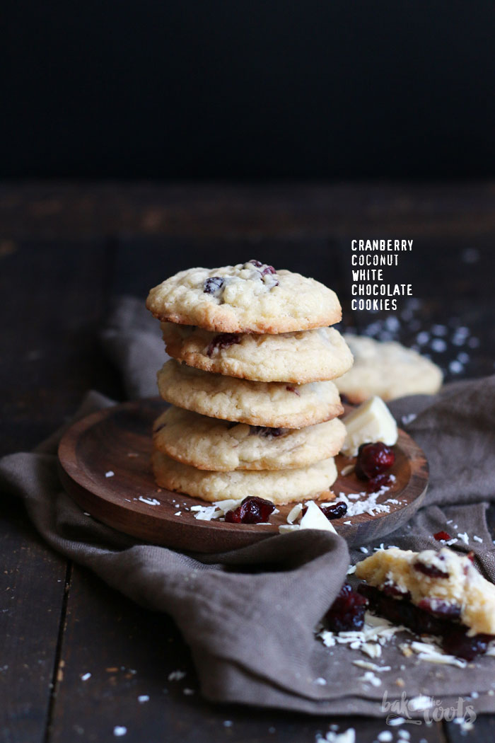 Cranberry Coconut White Chocolate Cookies | Bake to the roots