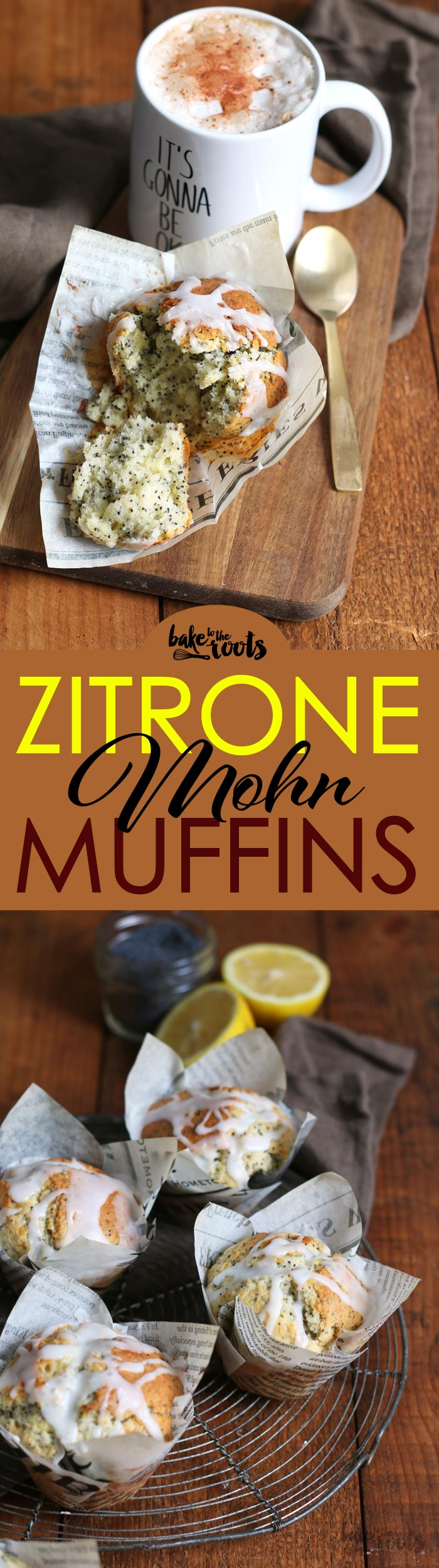 Leckere Zitrone Mohn Muffins, wie man sie aus dem Coffee Shop kennt | Bake to the roots