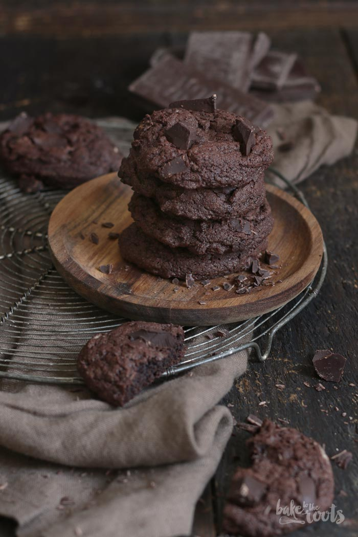 Double Chocolate Cookies   Bake to the roots