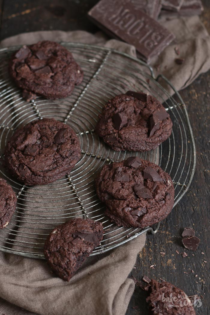 Double Chocolate Cookies | Bake to the roots
