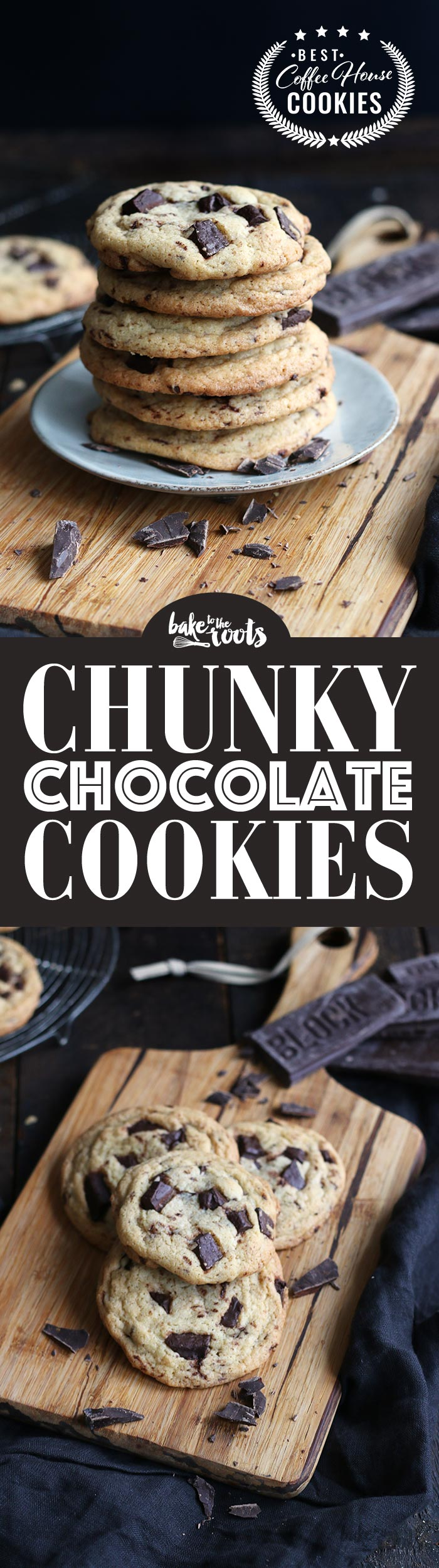 Delicious Chocolate Chip Cookies with large chunks of chocolate | Bake to the roots
