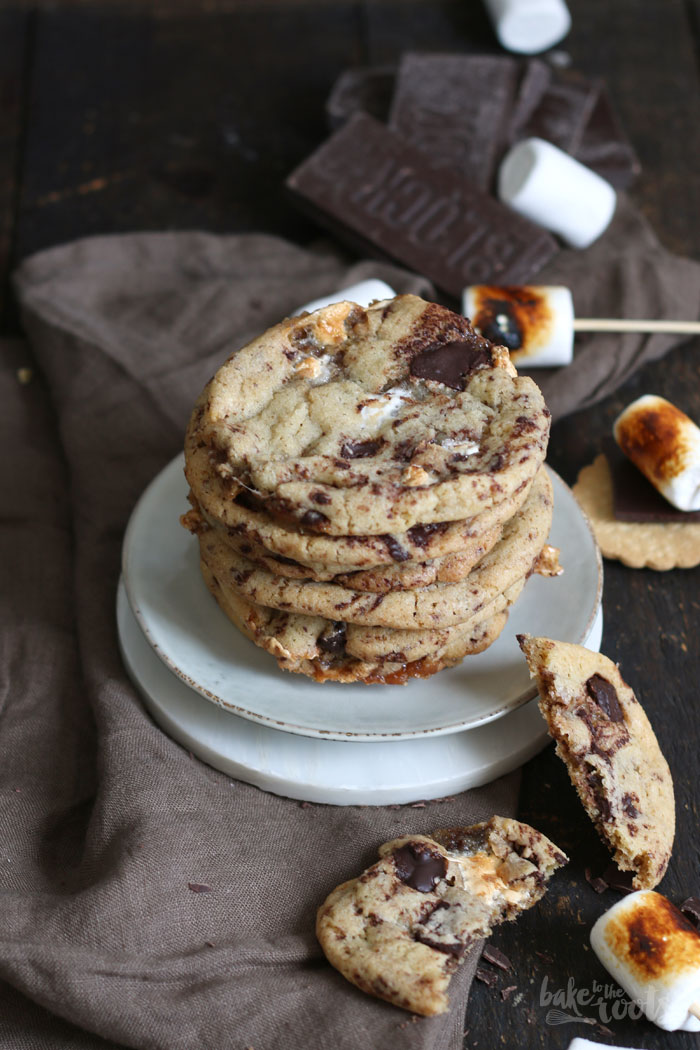 S'mores Cookies | Bake to the roots