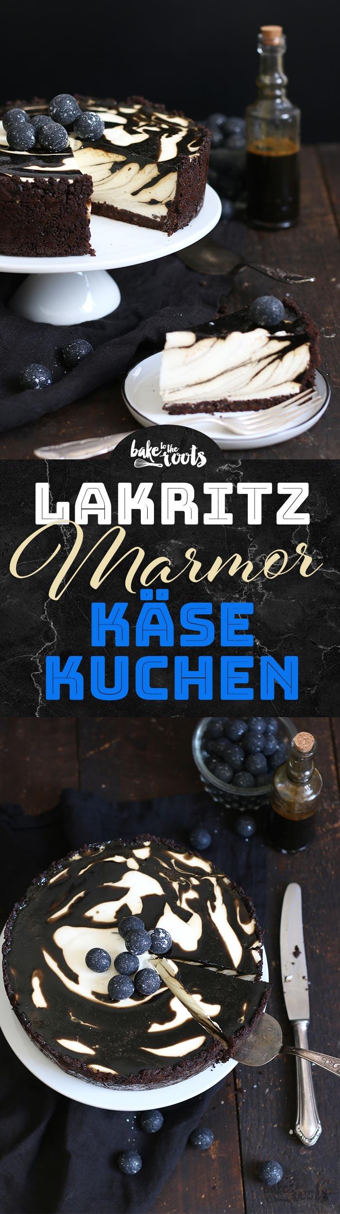 Lakritz Marmor Käsekuchen   Bake to the roots