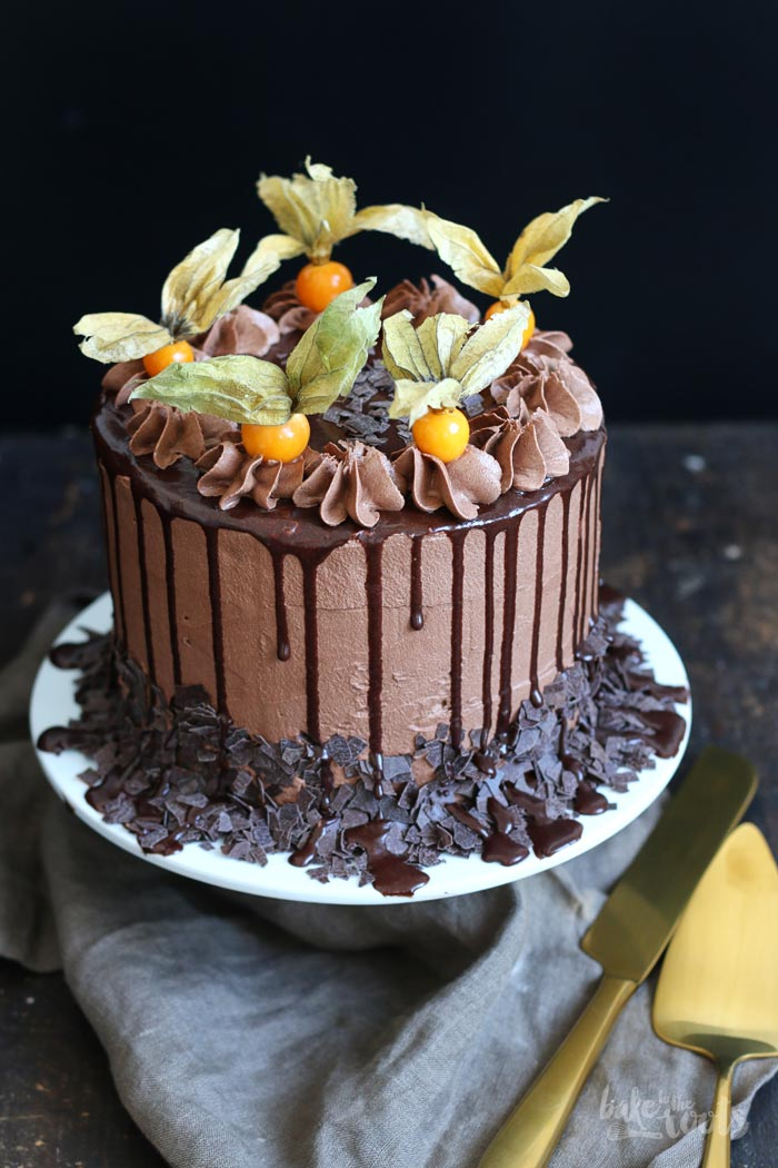 Brownie Chocolate Drip Cake | Bake to the roots