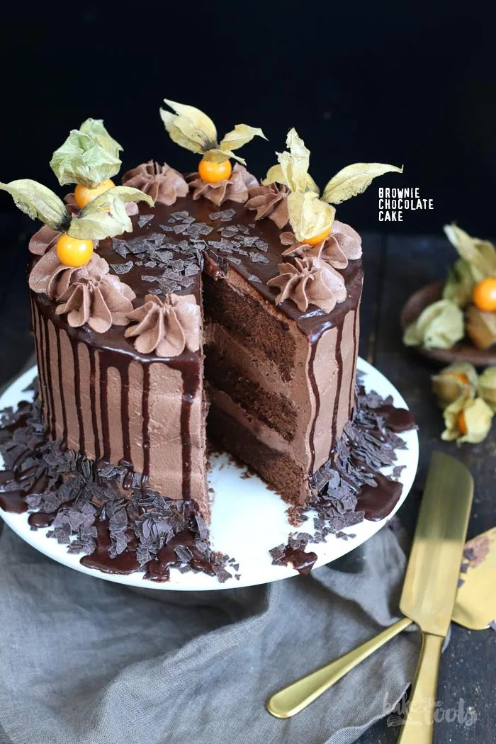 Brownie Chocolate Drip Cake Bake To The Roots