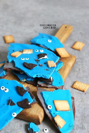 Cookie Monster Chocolate Cookie Bark