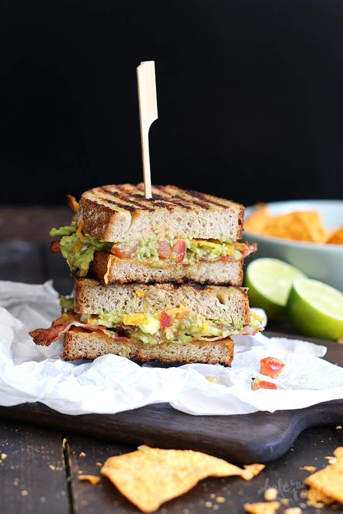Bacon Guacamole Grilled Cheese Sandwich | Bake to the roots