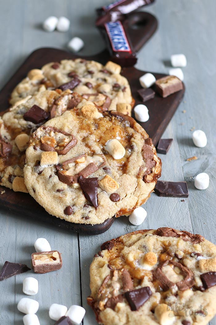 Caramel Stuffed Monster Size Cookies   Bake to the roots