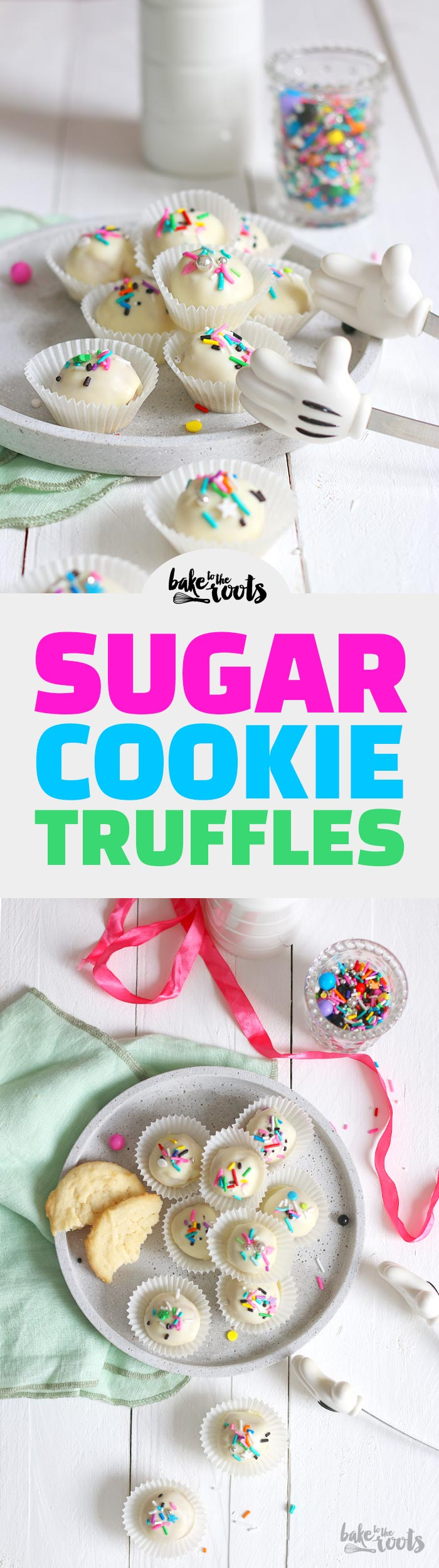 Sugar Cookie Truffles | Bake to the roots