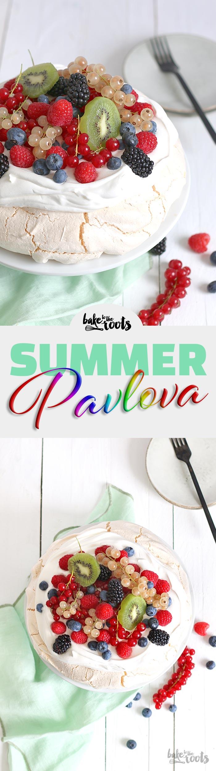 Summer Pavlova | Bake to the roots