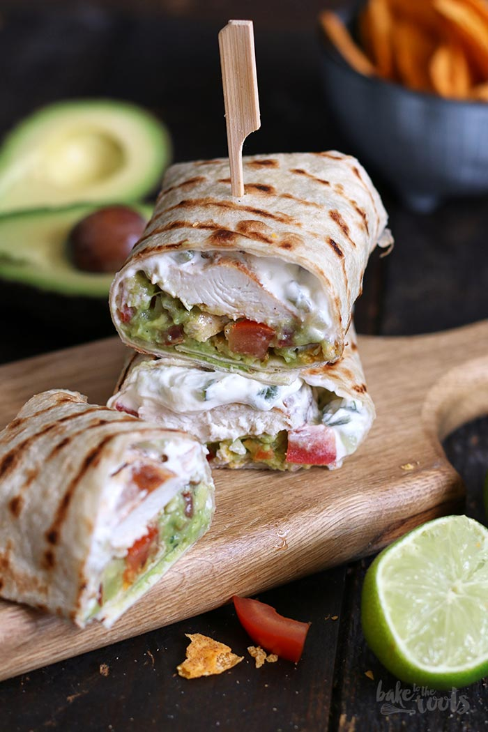 Guacamole Chicken Wraps | Bake to the roots