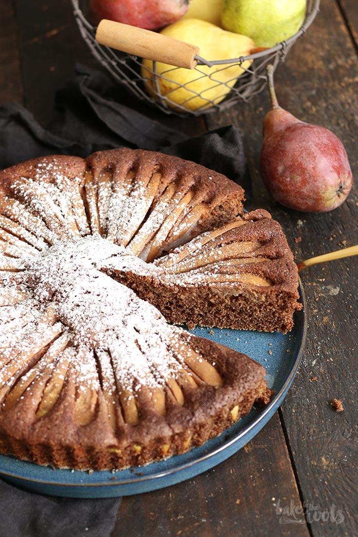 Einfacher Schokolade Birnen Kuchen Bake To The Roots