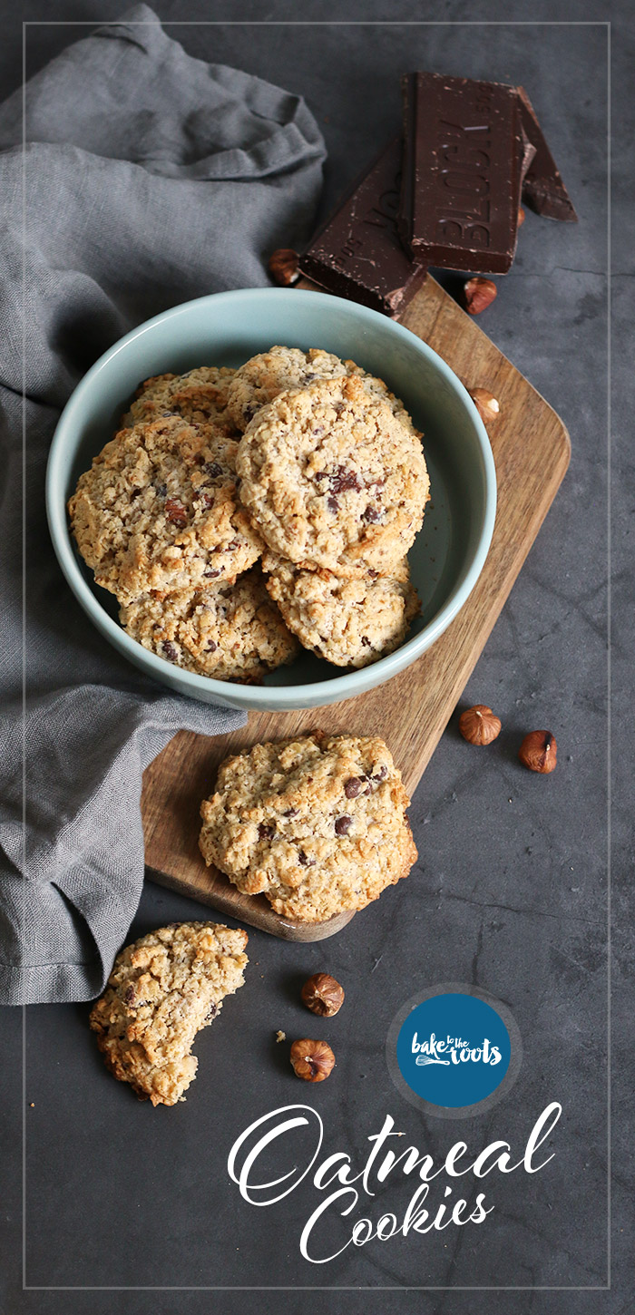 Oatmeal Cookies with Hazelnuts and Chocolate | Bake to the roots