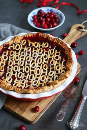 Cherry Cranberry Mulled Wine Pie