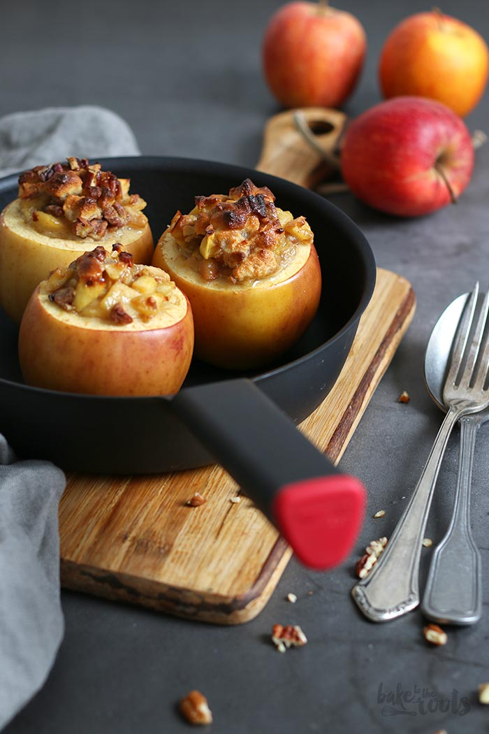 Baked Apples with Marzipan and Pecans