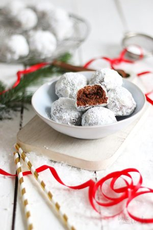 Chocolate Snowballs with Baileys