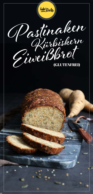 Pastinaken Kürbiskern Eiweißbrot   Bake to the roots