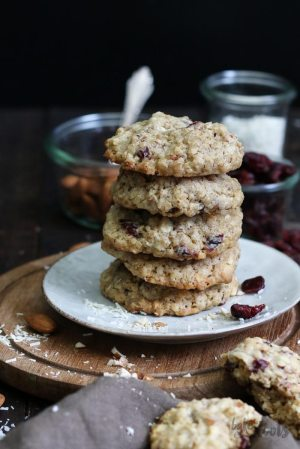 Cranberry Nuss Haferflocken Cookies