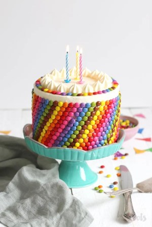 Colorful Birthday Cake (gluten-free)