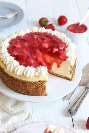 American Cheesecake mit Erdbeeren – Käsekuchen Deluxe!