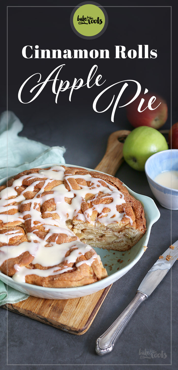 Cinnamon Roll Apple Pie | Bake to the roots