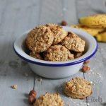 Sugar-Free Banana Hazelnut Oats Cookies | Bake to the roots