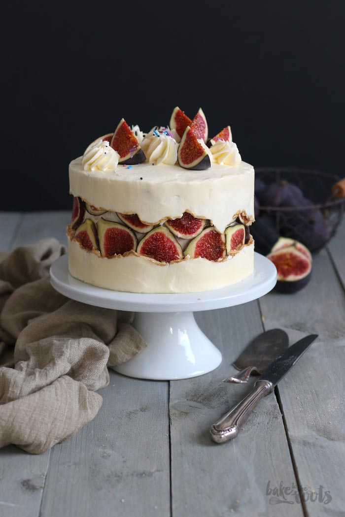 Honey Fig Fault Line Cake | Bake to the roots