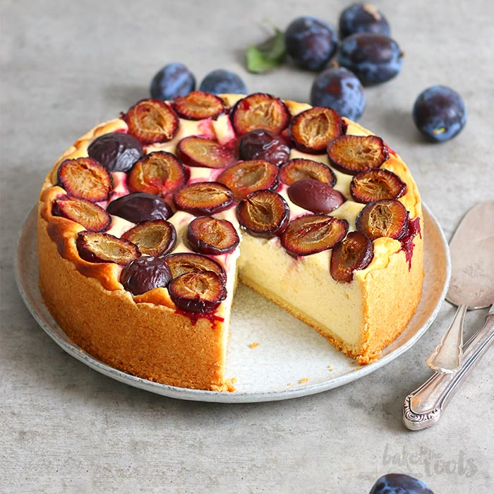 Semolina Cheesecake with Damson Plums | Bake to the roots