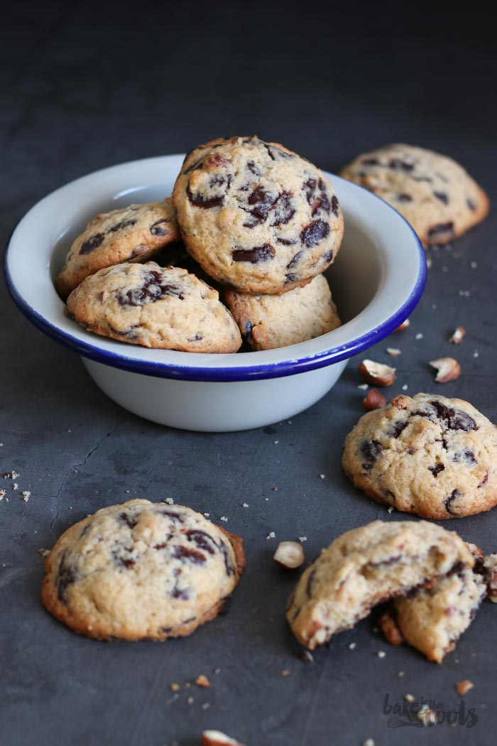 Hazelnut Chocolate Chip Cookies (sugar-free)   Bake to the roots