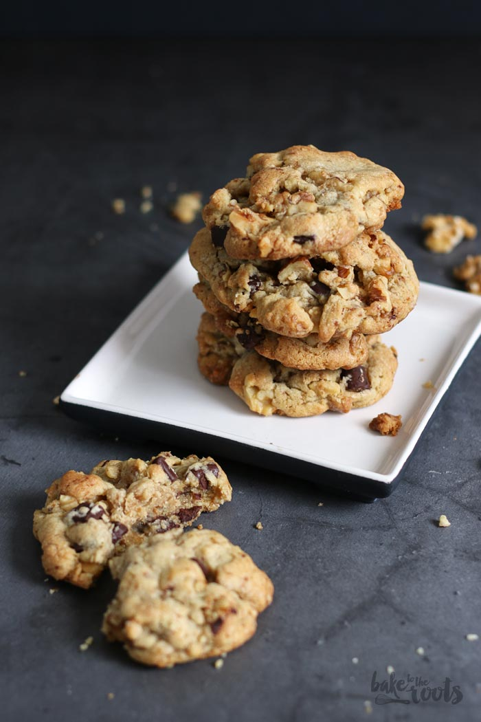 Chunky Walnut Chocolate Chip Cookies | Bake to the roots