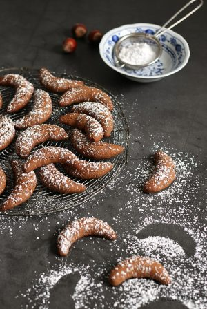 Gingerbread Chocolate Nougat Crescents