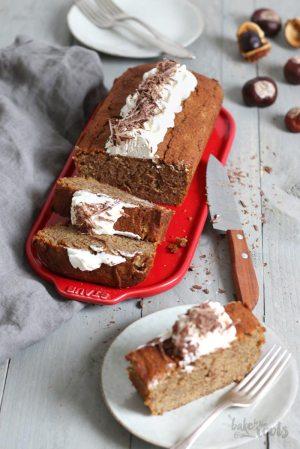 Chestnut Coffee Almond Cake
