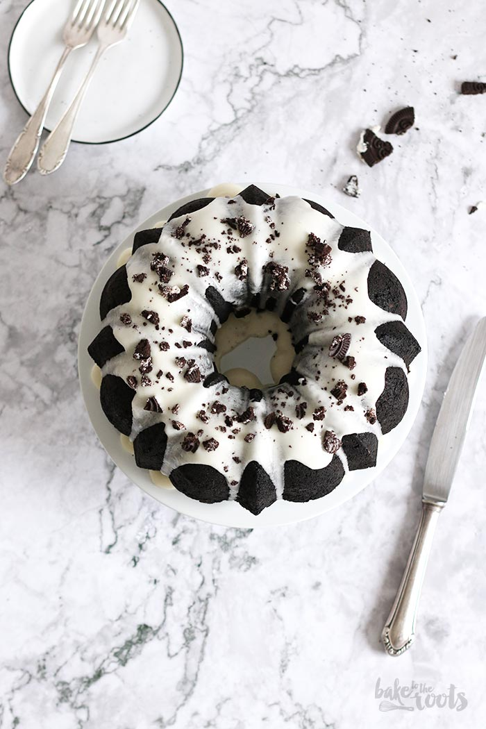 Oreo Stuffed Chocolate Bundt Cake | Bake to the roots