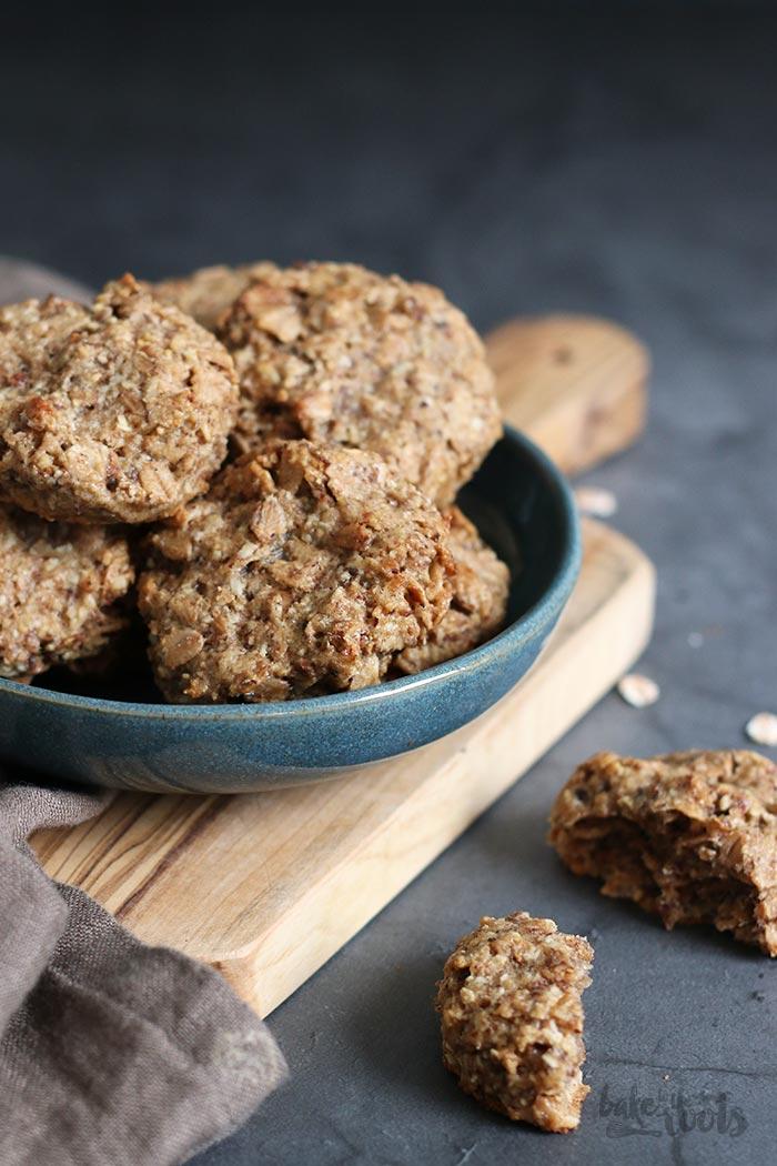 Vegane Dinkelflocken Cookies | Bake to the roots
