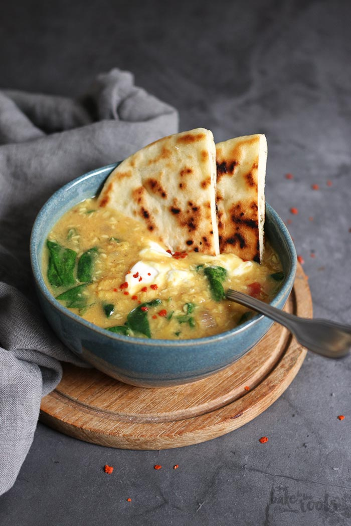 Vegan Coconut Lentil Soup | Bake to the roots