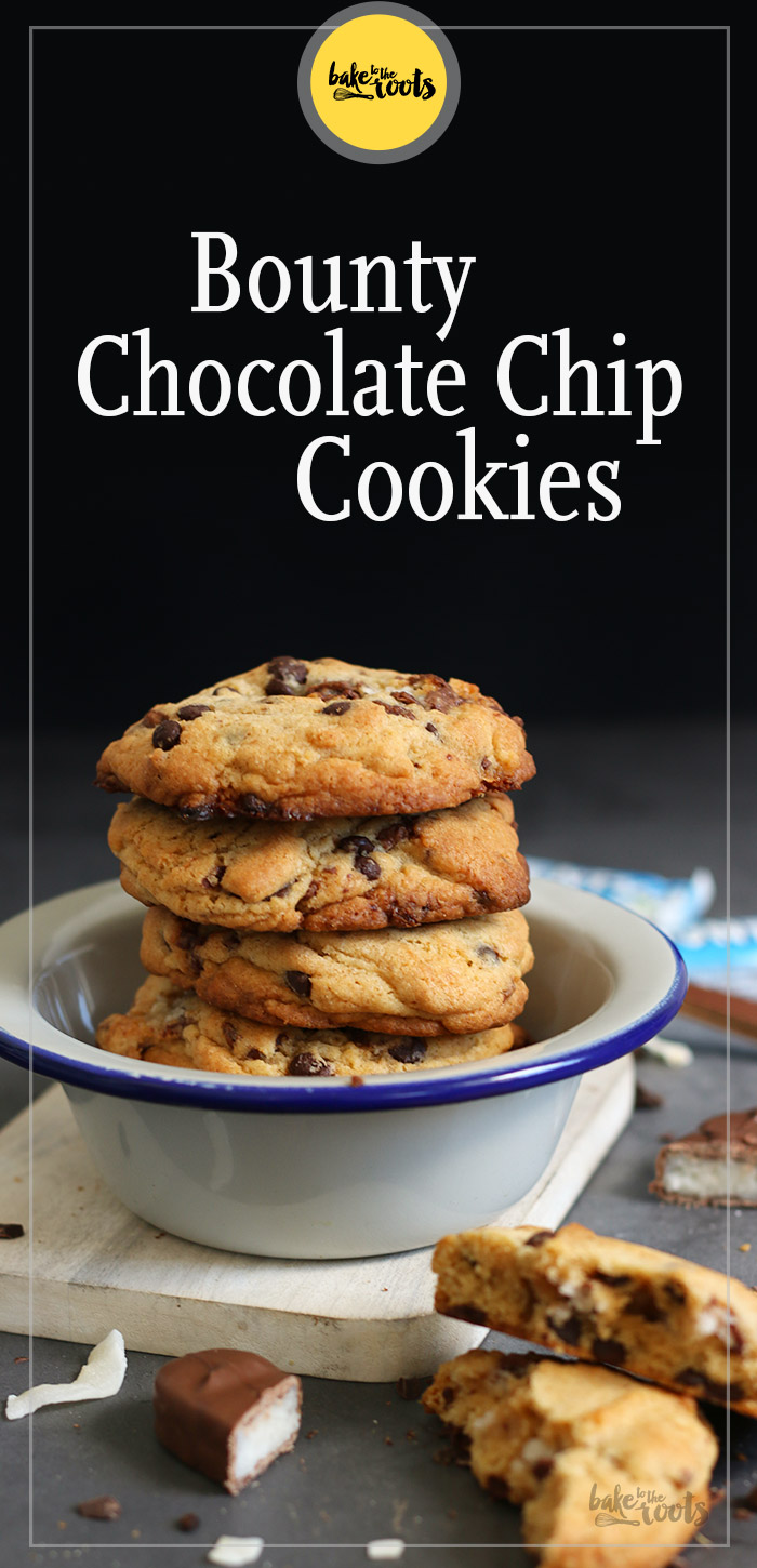 Bounty Chocolate Chip Cookies | Bake to the roots