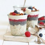 Vegan Overnight Oats with Baked Granola | Bake to the roots