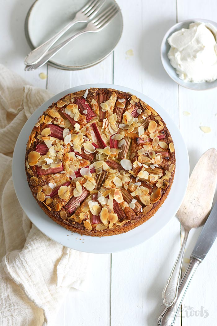 Almond Rhubarb Cake | Bake to the roots