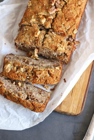 Flourless Coconut Banana Bread (sugar-free & gluten-free)