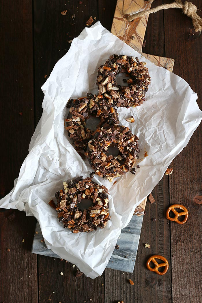 Trash Can Chocolate Donuts | Bake to the roots