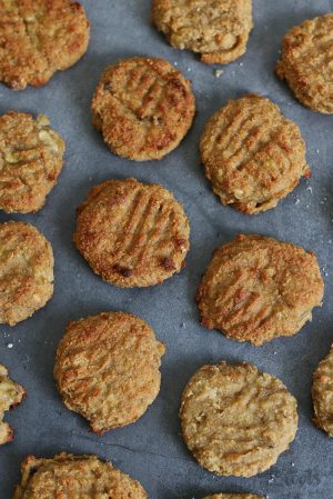 Peanut Butter Banana Bread Cookies (sugar-free & gluten-free)
