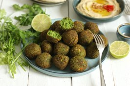Falafel with Easy Hummus | Bake to the roots