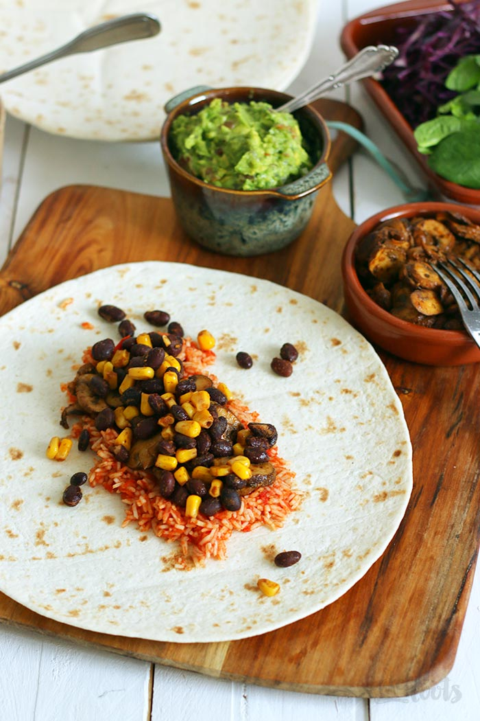 Loaded Vegan Burritos | Bake to the roots