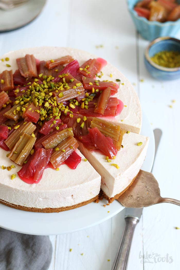 No-Bake Roasted Rhubarb Biscoff Cheesecake   Bake to the roots
