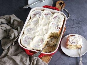 Overnight Zimtschnecken (Cinnamon Rolls)